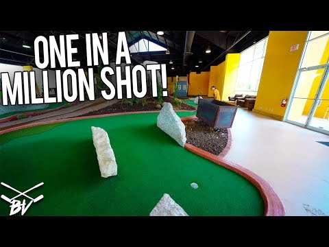 YOU JUST MADE THE ONE IN A MILLION MINI GOLF HOLE IN ONE SHOT!