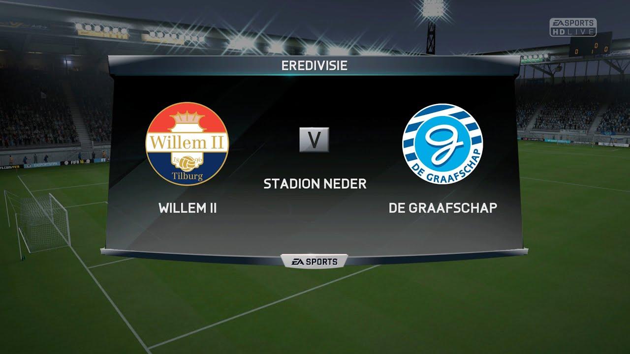 WILLEM II V DE GRAAFSCHAP EREDIVISIE LEAGUE FIFA 16