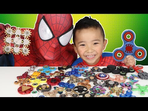 Thumbnail: 45 Must Have FIDGET SPINNERS!! Spiderman's Collection