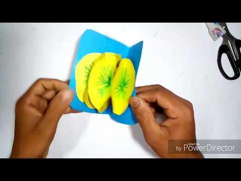 yeallow paper diya ful toiri।Easy Origami। kagoje diya ful banano।।