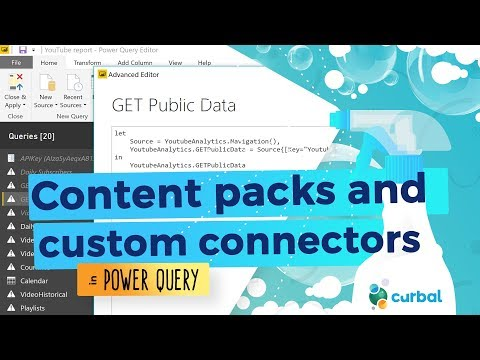 Content packs and custom connectors in Power BI - YouTube