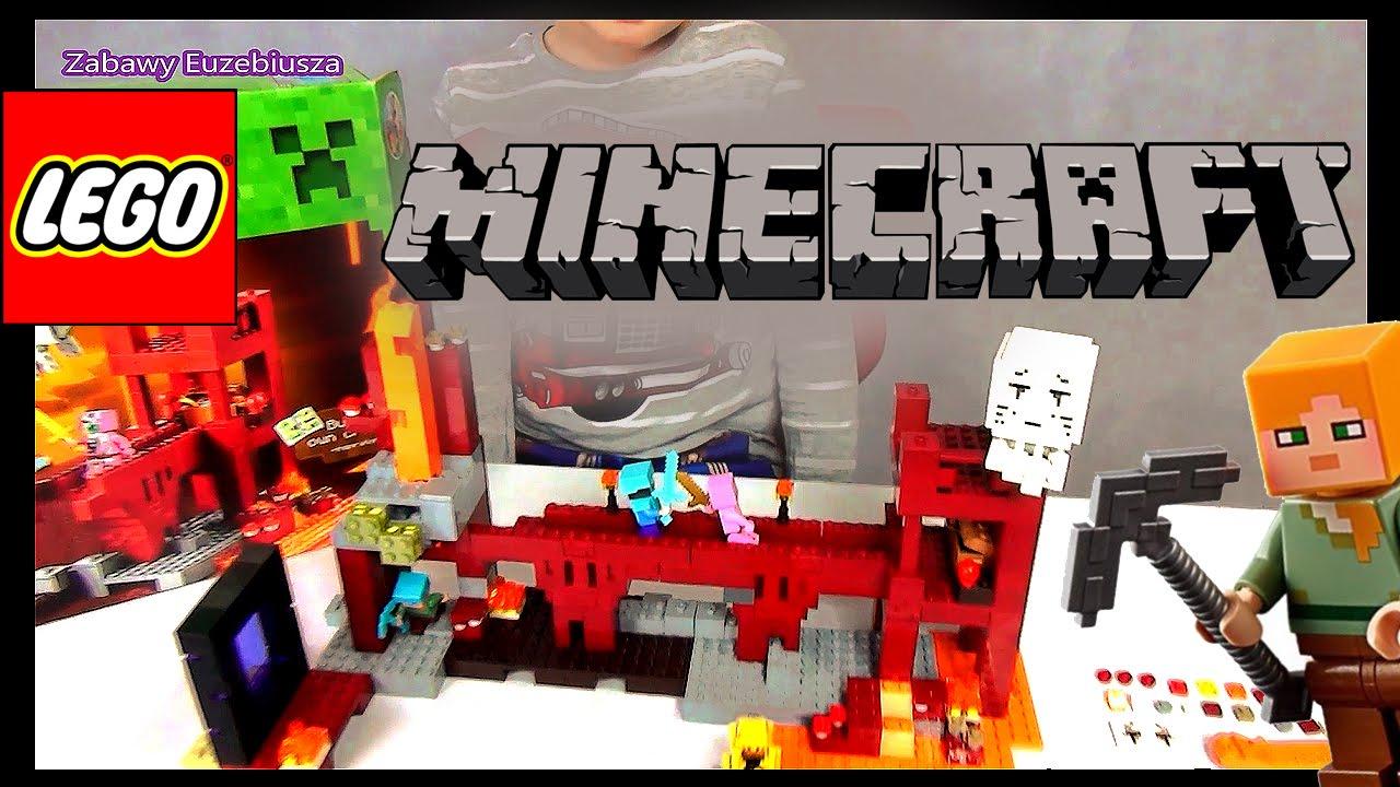 Lego Minecraft 21122 Forteca Nether U Po Polsku Youtube