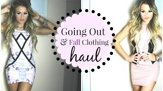 Going Out + Fall Clothing Haul   TRY ON