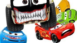 Дісней автомобілів Блискавка Маккуїн, перемогти супер-гігант автомобільного лиходій! ❤️ RACHAMAN ІГРАШКА