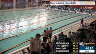 6 100m Selkäuinti Miehet Heat 6 11 59 34