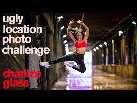 Charlize Glass takes Ugly Location Photo Challenge in Pouring Rain *World of Dance *
