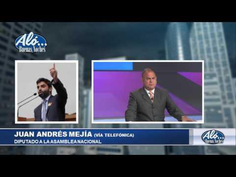 Entrevista a Diputado Juan Andrés Mejía – Alo Buenas Noches 21-07-2017 Seg. 05