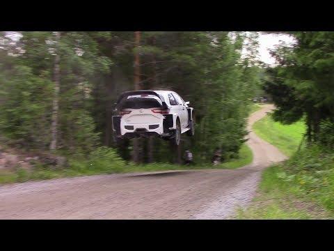Rally Finland 2017 Test Flying Toyota Yaris WRC