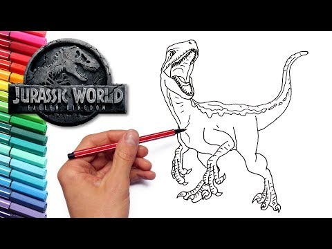 Blue Velociraptor From Jurassic World Fallen Kingdom Drawing And
