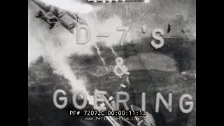 HERMANN GOERING WWI NEWSREEL FOKKER D.VII AIRCRAFT 72072C