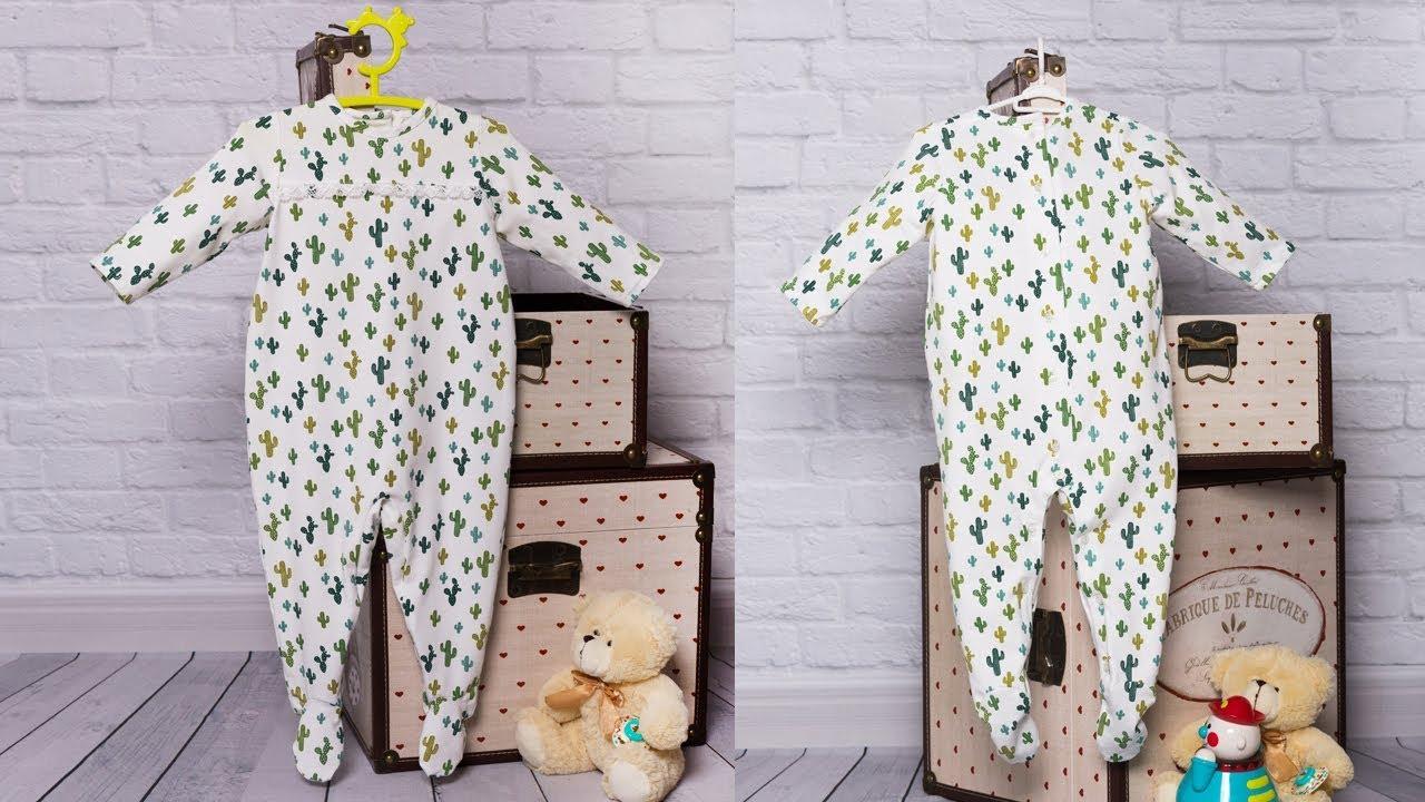 Pijama de bebé. REVISTA PATRONES INFANTILES Nº 7 - YouTube