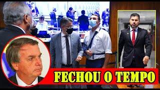 FLÁVIO BOLSONARO PEDE DESTITUIÇÃO DE CALHEIROS E SENADOR REVELA GABINETE PARALELO DENTRO DO SENADO