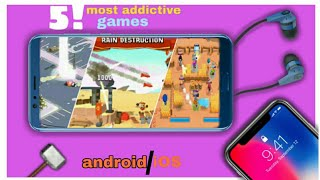 Top 5! most addictive games for android || by Zack