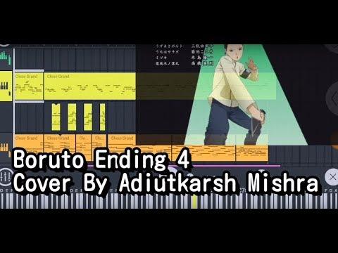 BORUTO ENDING 4 COVER BY ADIUTKARSH MISHRA   Instrumental   Karaoke  