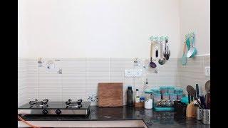 Kitchen countertop organization tamil/Kitchen tips and organization