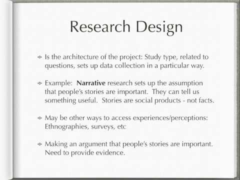 Write design section dissertation