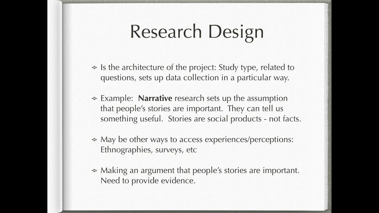 Research methodology thesis narratives