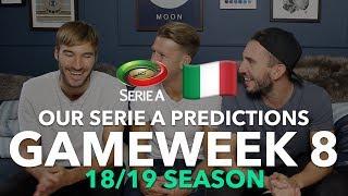 Serie A Tips - Gameweek 8 - 2018/2019
