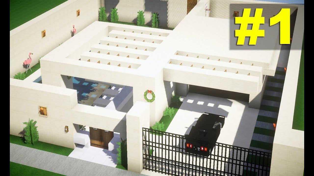 Minecraft como fazer casa moderna subterr nea 1 youtube for Casa moderna 1 8