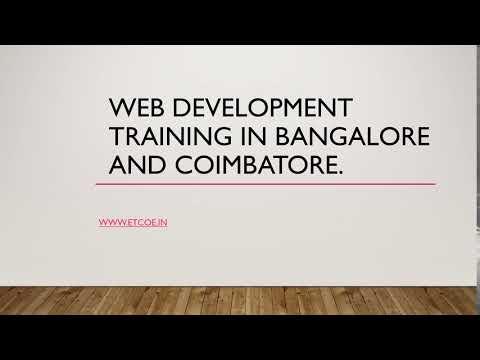 Web Development Training in Bangalore and Coimbatore-etcoe.in