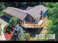 House Tour of Bothell House 3500sq, 1.3 acres, new deck, 3 car garage, 5 carports, sport court, pond