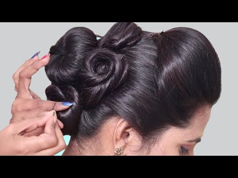 Flower Bun Hairstyles for wedding, party | Quick Hairstyles 2018 || Everyday hairstyles