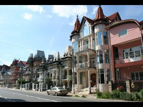 Luxury homes of gypsy Romanian barons.