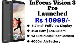InFocus Vision 3 Pro Launched Priced At Rs 10,999 | Price, Specifications & Features.