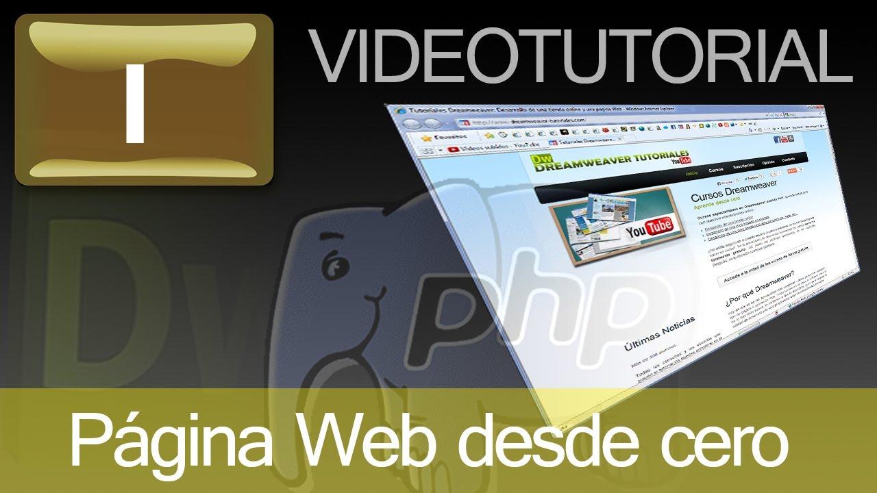 Tutorial: Como hacer página Web con Dreamweaver y PHP. Cap. 1 - YouTube