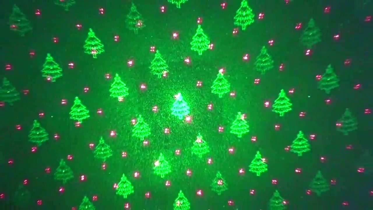 1byone christmas laser lights with green christmas tree and red stars review youtube