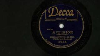 La Vie En Rose 78RPM - Louis Armstrong