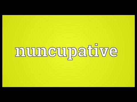 Header of nuncupative