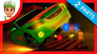 Car racing or Hot Wheels racing. Police chase to cars full episodes - Video for kids