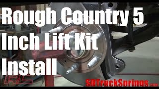Rough Country 5 Inch Lift Kit for Chevy Silverado Installation  - Model # 262.20  Tutorial + Review