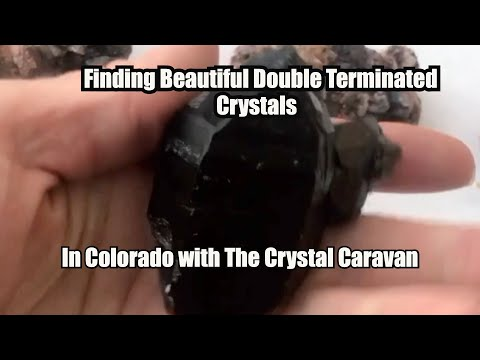 Finding Double Terminated Morion Quartz Crystals in Colorado with The Crystal Caravan 2020