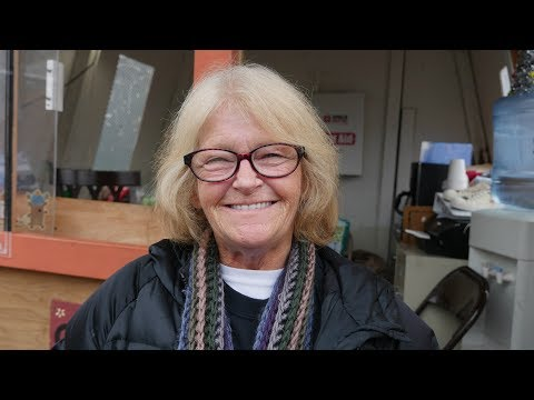 This homeless woman lost her house and now lives in Seattle's Tent City 5.