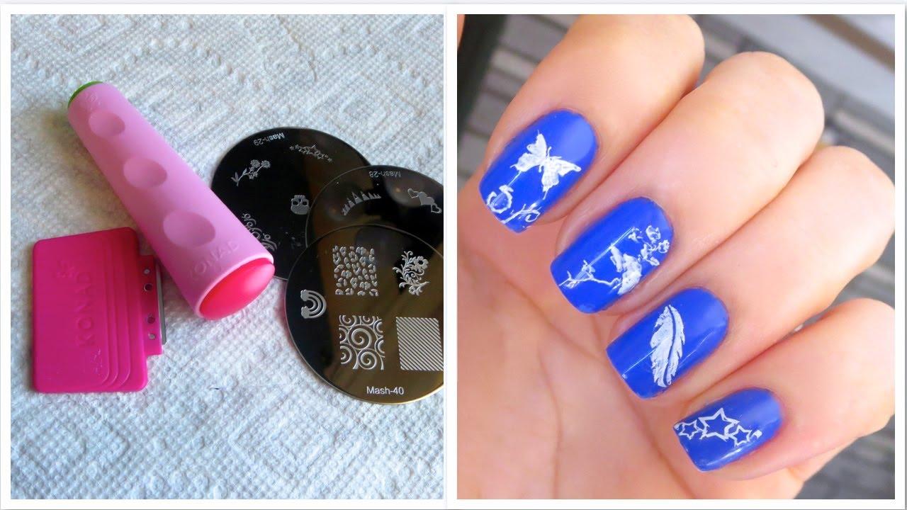 Como Fazer Unhas Decoradas com Carimbo (Passo a Passo Como Usar) How to Nail Art with Stamp