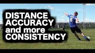 Long passing technique in football ► How to ping ► How to kick a soccer ball high and far
