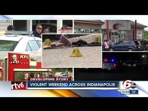 11 people shot, 3 killed in violent Indianapolis weekend