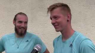 David Mrázek a Tomáš Frommel po prohře v 1. kole čtyřhry na turnaji Futures v Ústí n. O.