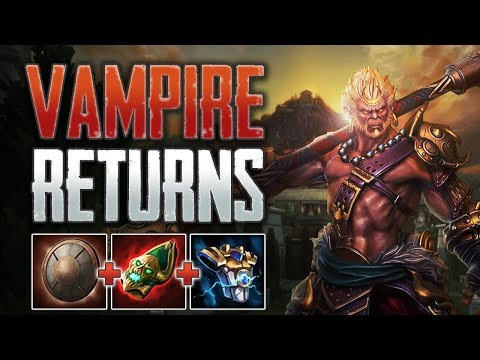 Vampire Build Returns! Sun Wukong Solo Gameplay (SMITE Conquest)
