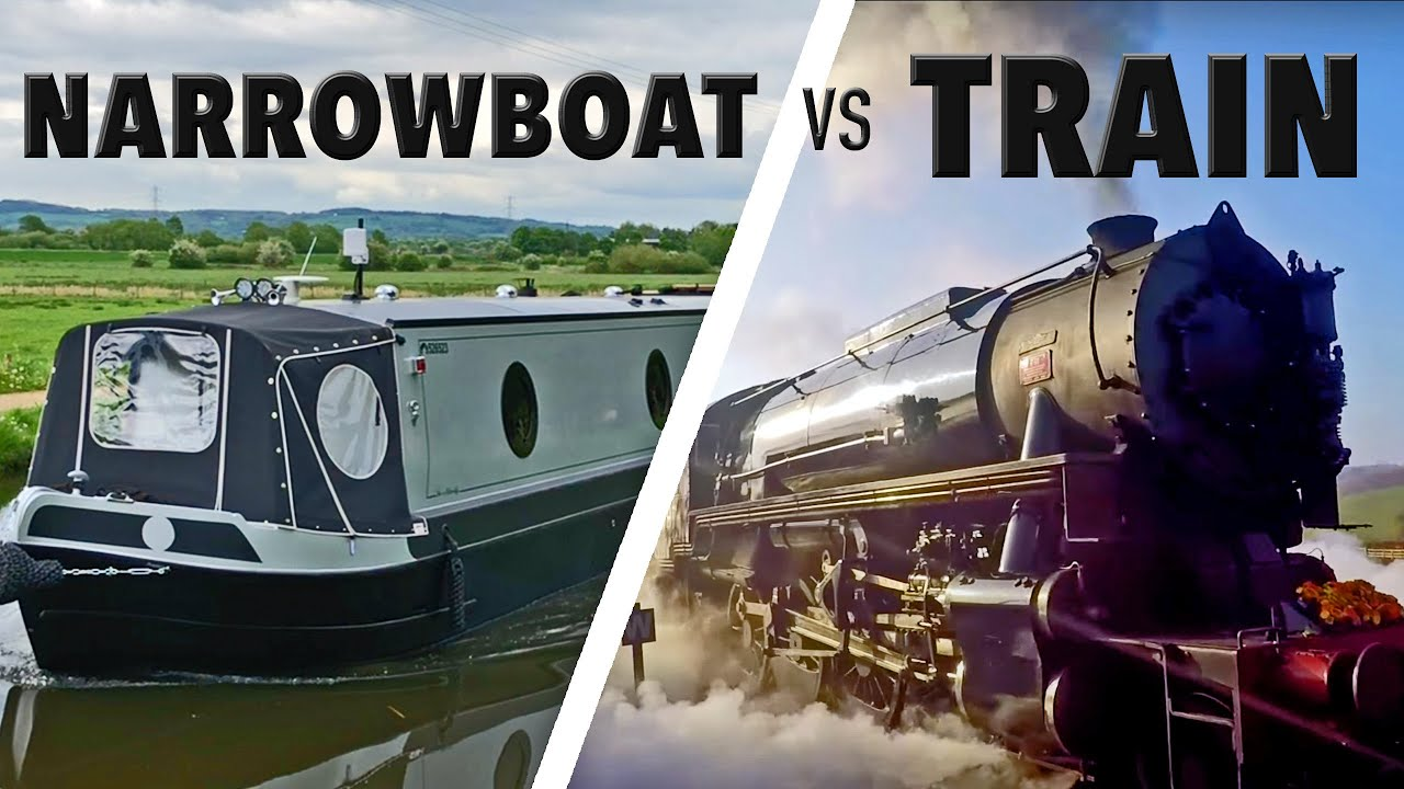 Narrowboat vs Train! Cab Ride on the Churnet Valley Railway