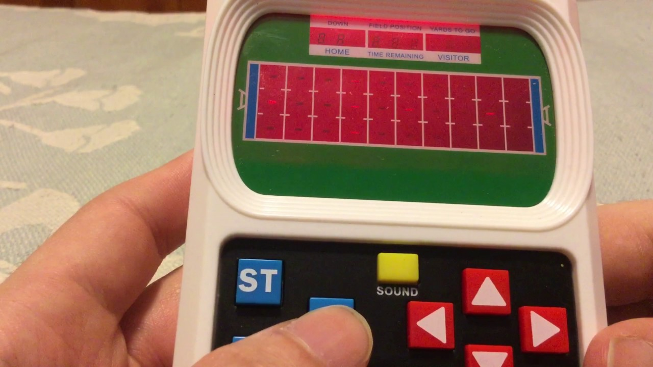 Image result for handheld football game 1980s