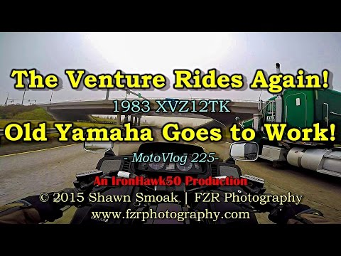 The Venture Rides Again! - Old Yamaha Goes to Work! | MotoVlog 225