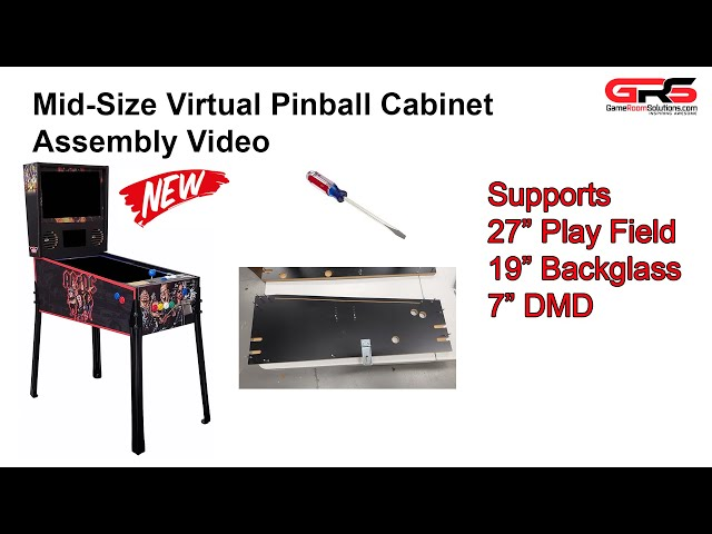 Mid Size Virtual Pinball Cabinet Assembly