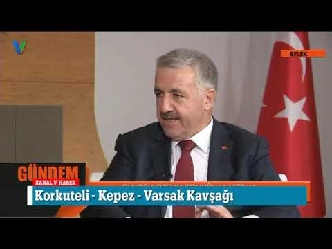 Kanal V'nin Konuğu Bakan Arslan Oldu