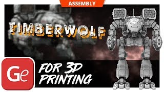 TimberWolf 3D model is inspired by MechWarrior Online video game's ...