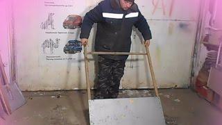 как сделать скребок для уборки снега  с крыши