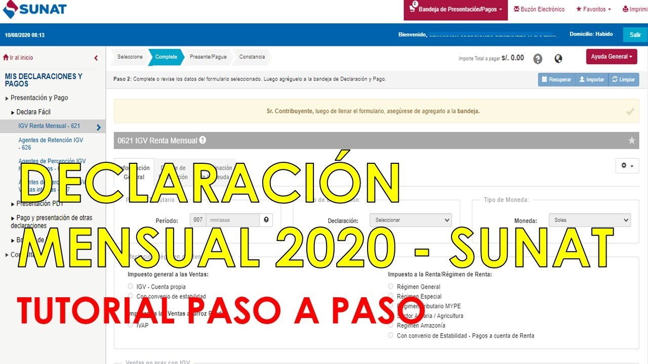 Declaración mensual Sunat 2020| Tutorial paso a paso (Actualizado)