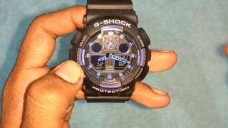 How to set a time on Casio G Shock Watch (5081)